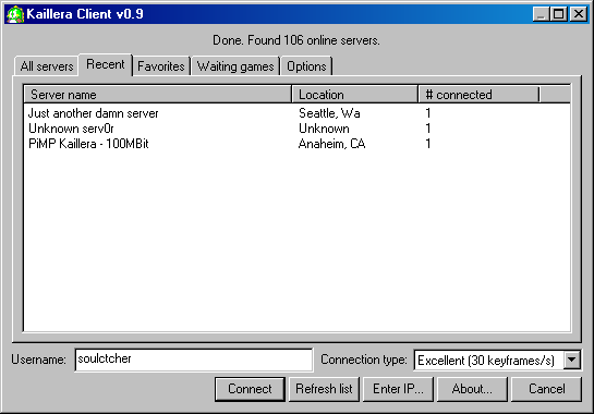 Kaillera----游戏联网服务器搭建